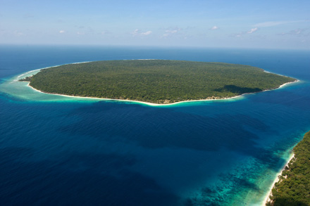 Vista aérea de la isla de Jaco